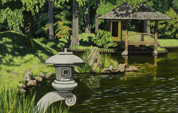 Japanese Garden with Lantern